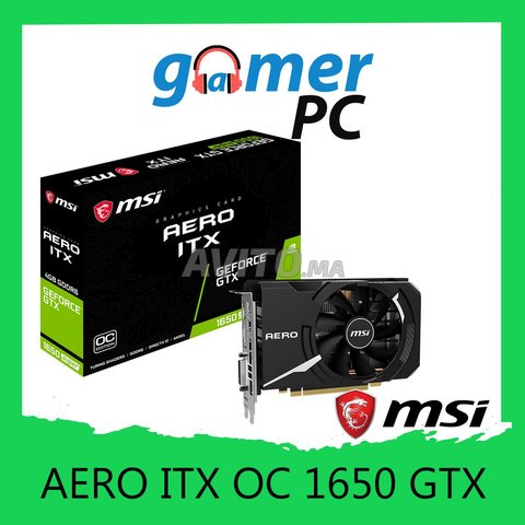 MSI Carte Graphique GTX 1650 AERO ITX OC DDR6 - 1