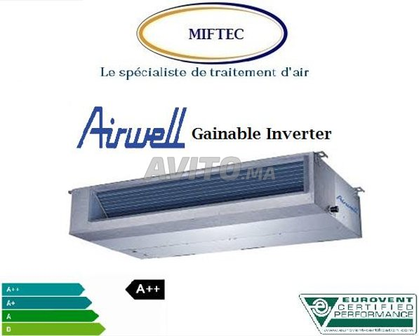 Airwell Climatiseur  Gainable  Inverter 12000BTU - 1