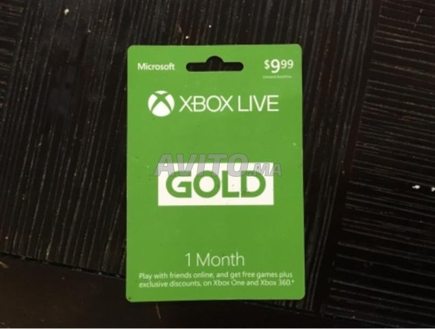 Forfait abonnement Xbox Live Gold pour XBOX - 1