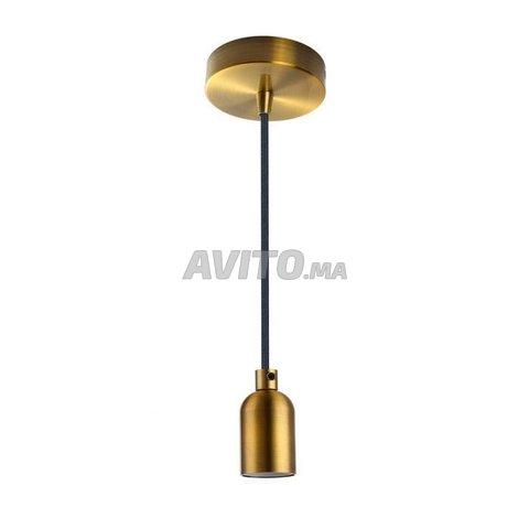 Suspension cable  douille E27 Bronze et noir 2m - 1