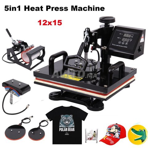 PRESSE SUBLIMATION MACHINE 5in1 T-SHIRT NEUF  - 1