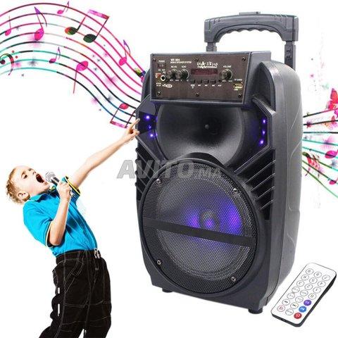 Haut-parleur Rechargeable Avec Micro Télécommande  - 1